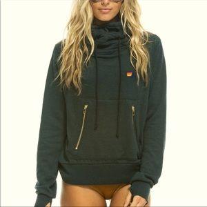NWT Aviator Nation ninja hoodie charcoal M